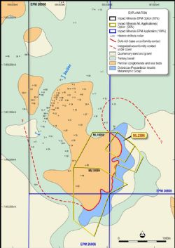 Location and geology of the Blackridge mining centre
