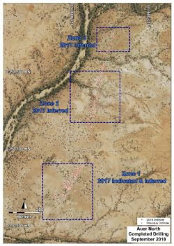 Yangibana Project – Auer North Drill Coverage Showing 2018 Holes