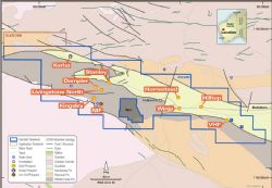 Livingstone prospects occur along a prospective strike length of over 30km.