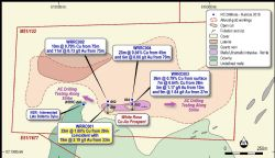 White Rose Prospect – Munarra Gully Project – Geology and RC Drill Intercept Plan