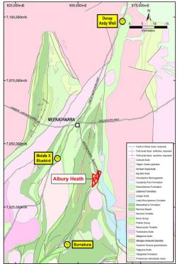 Location, Albury Heath Project, WA (regional geology after DMIRS).