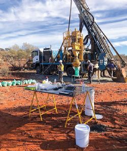 RC Rig drilling at Schwabe Prospect