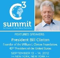 الرئيس بيل كلينتون سوف يلقي خطابا رئيسيا في مؤتمر رئيسي للأعمال بين الولايات المتحدة والشرق الأوسط: برمودا سوف تشارك في إستضافة قمة C3 في نيويورك
