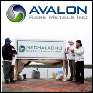 Avalon Rare Metals Inc. (TSE:AVL) Industry Bulletin: Chinese Ministry of Commerce Announces Rare-Earth Export-Quota Allocations For 2012