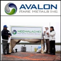 Avalon Rare Metals Inc. (TSE:AVL)