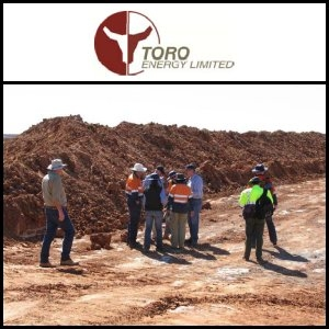 Toro Energy Limited (ASX:TOE) Completes Excavation Of Mineralised Sample At Its Wiluna Uranium Project Resource Test Pit At Wiluna In WA
