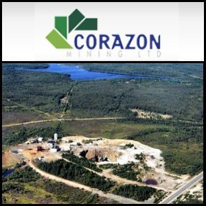 Australian Market Report of November 26, 2010: Corazon (ASX:CZN) Expands Base Metal Projects in Canada