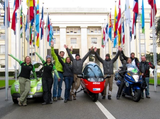 Team Trev Successfully Crossed the Finish Line of Zero Race at the United Nations Palais de Nations