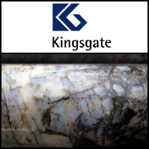 Kingsgate Consolidated Limited (ASX:KCN) Announce High Grade Intersections At Challenger Mine In South Australia
