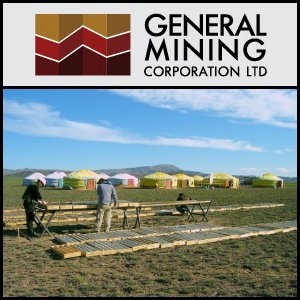 Asian Activities Report for September 27, 2011: General Mining Corporation (ASX:GMM) to Acquire a New Mongolian Project for Coal Exploration
