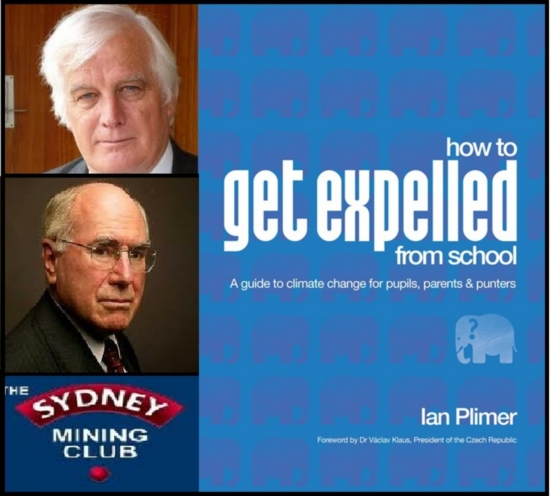 Former Australian Prime Minister John Howard to launch Ian Plimer's new book 'How to Get Expelled from School'