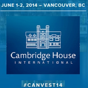 Canadian Investor Conference June 1-2, 2014