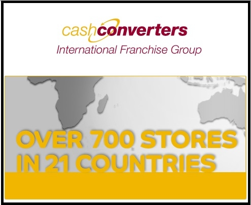Cash Converters International Ltd ASX CCV