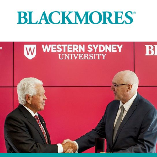Together with Marcus Blackmore Gift $10 Million to National Institute of Complementary Medicine for Research