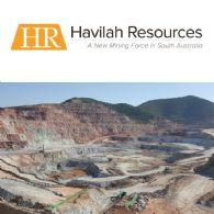 Havilah Resources Ltd (ASX:HAV) Kalkaroo Pre-Feasibility Study on Track