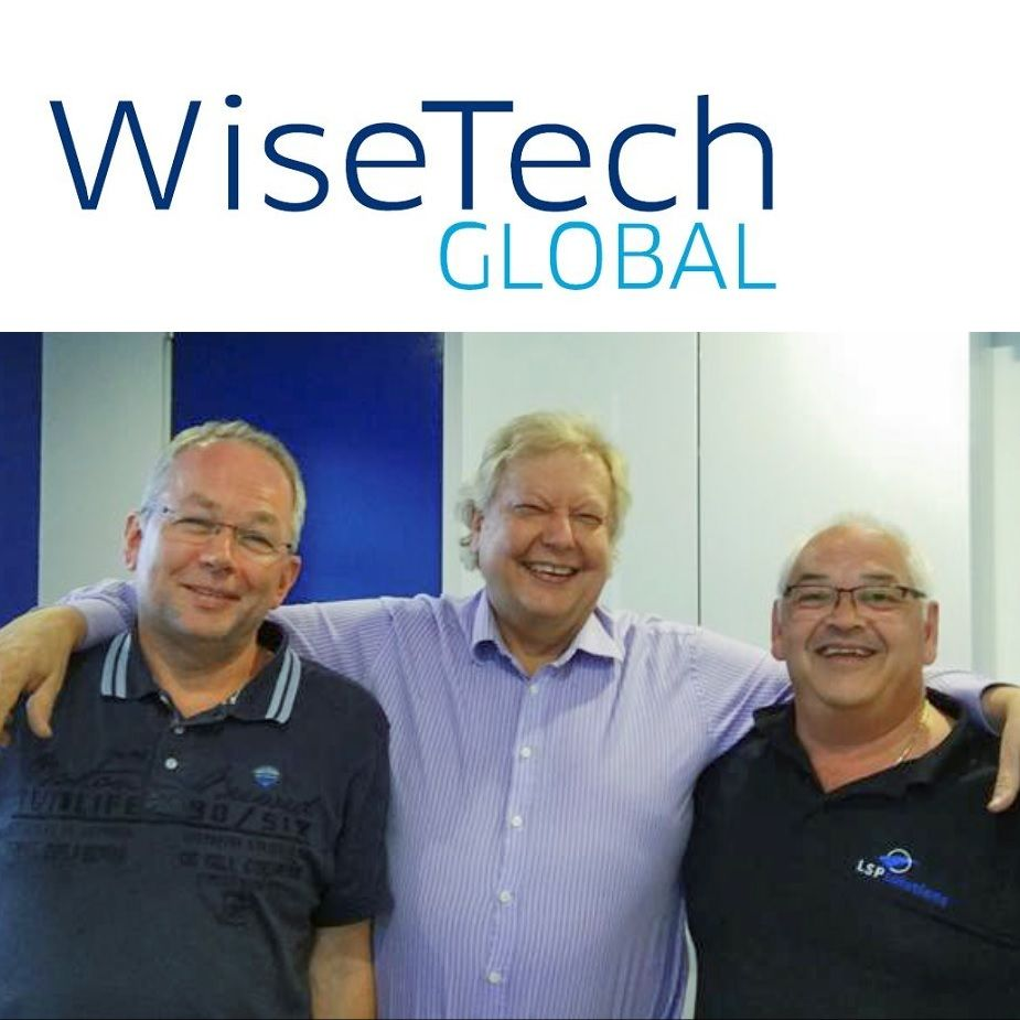 (L to R): Erik Wilting, Head of R&D, LSP Solutions; Richard White, CEO, WiseTech Global; Marco Pieplenbosch, MD, LSP Solutions