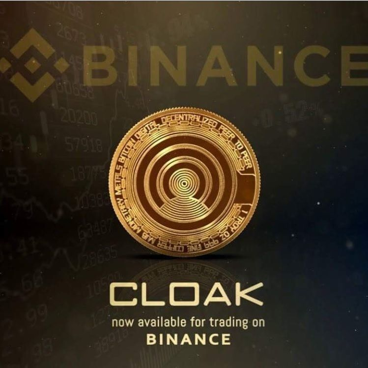 Binance Lists CloakCoin (CRYPTO:CLOAK)