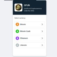 GoldFund.io Releases Bitcoin Payment Gateway for Acquisition of GFUN Cryptocurrency
