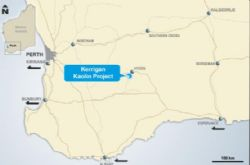 Location of Kerrigan Kaolin Project