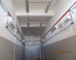 Substation internal finishing