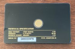 Rear of Gold Card