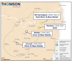 Figure 1. Location of Thomson Resources projects and Mt Carrington Joint Venture