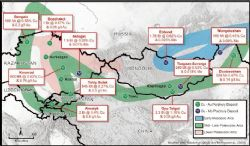 Mongolias position in the Central Asian Copper Belt and significant regional discoveries
