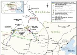 The project is near the major Tavan Tolgoi coal deposit and Oyu Tolgoi copper-gold deposit