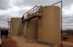 Production facilities for the Mahaffey Bishop PU1 well