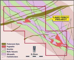 Figure 14: Lake Percy Project geology