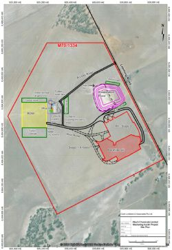 Figure 1. Proposed Meckering Site Layout