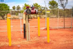 Future connection for Central to deliver gas into the Palm Valley-Alice Springs pipeline is now in place at BECGS compound.