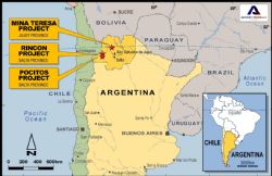 Appendix 1: AGY Argentina Project Location Map