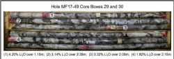 High Grade Lithium Pegmatite Intersection in Hole MF17‐49
