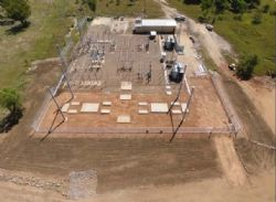 Ergon substation civil works complete.