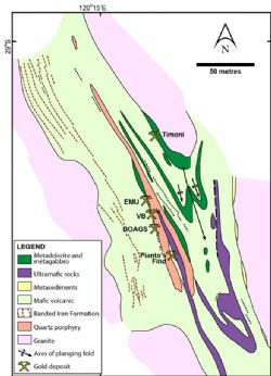 Geological setting of the Bottle Creek project.