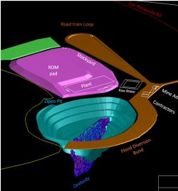 Preliminary Mine Design, Grants Lithium Deposit NT.