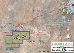 Thackaringa Cobalt Project district map. Source: Cobalt Blue Holding.
