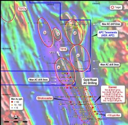 Yamarna Shear Zone (Yamarna Gold Project) Air-Core drilling showing maximum gold in hole