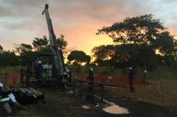Drilling at the Caula Vanadium-Graphite Project, August 2018