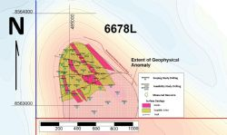 Locations of Feasibility Study Drill holes and the plan view of mineralisation