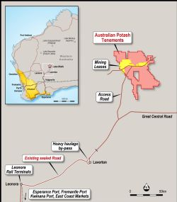 Mining Leases have been granted at Australian Potash's Lake Wells Sulphate of Potash project