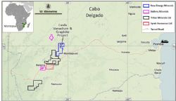 Caula Vanadium-Graphite Project Location and key transport infrastructure