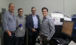 Lilac Solutions test laboratory being visited by Lake's Board with Lilac's CEO and VP Technology