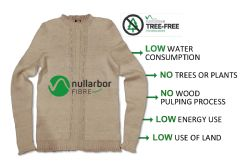 Image of test garment created using Nanollose Tree-Free rayon fibre