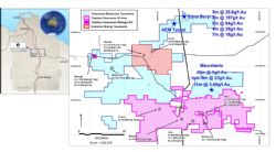 Emmerson Resources 100% owned Tennant Creek project (blue)