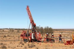 Diamond drilling operations at Pyrite Hill.