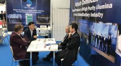 Altech Chemicals Limited booth at Battery Japan 2019 (with Mitsubishi Representatives)