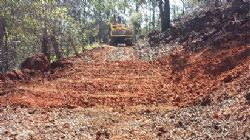 repaired site of pit BJP001 on forest track