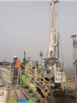 Foraco diamond drill rig at Lake's Cauchari brine project